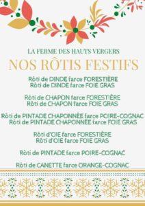 Rôtis Festifs - Crédits : La Ferme des Hauts-Vergers